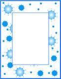 蓝色边界框架 免版税库存图片