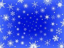 蓝色边界结霜的雪 免版税库存图片