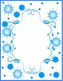 蓝色边界花卉花 库存图片
