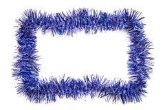 蓝色边界闪亮金属片 免版税库存图片