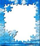 蓝色边界难题反映天空水 库存例证