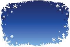 蓝色边界雪花 库存图片