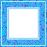 蓝色边界 免版税图库摄影