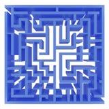 蓝色迷宫 免版税库存图片