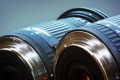蓝色透镜 免版税库存图片