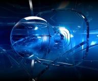 蓝色透镜 皇族释放例证