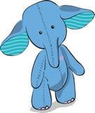 蓝色逗人喜爱的大象 图库摄影