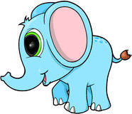蓝色逗人喜爱的大象 库存图片