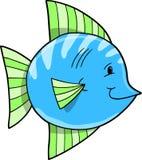 蓝色逗人喜爱的鱼向量 库存图片