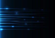 蓝色速度激光 免版税库存图片