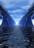 蓝色速度高速公路 免版税图库摄影