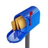 蓝色邮箱 免版税库存图片