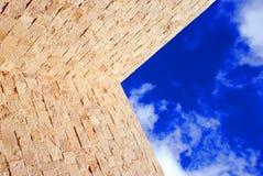 蓝色部分天空 库存照片