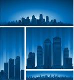 蓝色都市风景 免版税库存照片