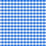 蓝色野餐桌布无缝的样式 库存图片