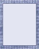 蓝色金刚石框架 免版税库存照片