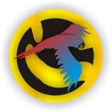 蓝色金刚鹦鹉mccaw鹦鹉红色 库存图片