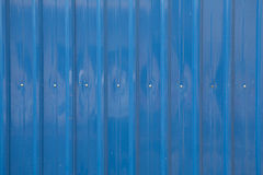 蓝色金属板 免版税库存图片