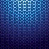 蓝色金属栅格背景 免版税库存照片