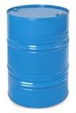 蓝色金属桶 库存图片