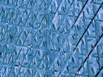 蓝色金属模式 免版税库存图片
