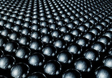 蓝色金属球形 向量例证