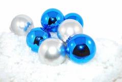 蓝色金属装饰品 免版税图库摄影
