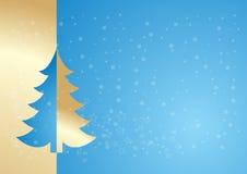 蓝色金结构树 免版税库存图片
