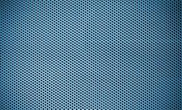 蓝色钢网筛背景 免版税库存图片