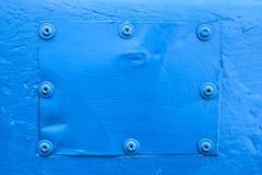 蓝色钢背景 免版税图库摄影