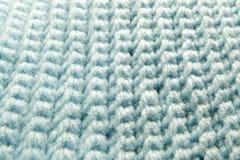 蓝色钩针编织工作片断的样式 库存图片