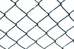 蓝色铁丝网 免版税库存照片