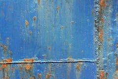 蓝色铁锈纹理 免版税库存照片