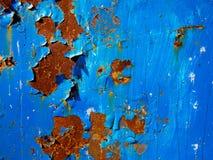 蓝色铁锈纹理 库存照片