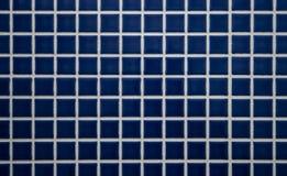 蓝色铺磁砖的墙壁 库存图片