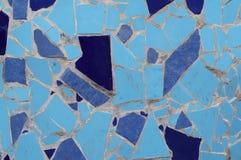 蓝色铺磁砖马赛克 库存照片