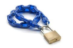 蓝色链子 库存照片