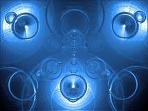 蓝色镀铬物 库存图片
