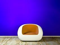 蓝色长沙发空间沙发 免版税图库摄影