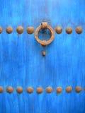 蓝色门 免版税库存照片
