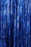 蓝色闪亮金属片 免版税库存照片