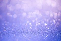 蓝色闪烁圣诞节抽象背景 皇族释放例证