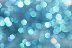 蓝色闪烁圣诞节摘要软的颜色 库存图片