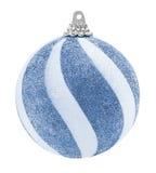 蓝色闪烁圣诞节球 免版税图库摄影