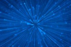 蓝色闪烁爆炸点燃抽象背景 库存照片