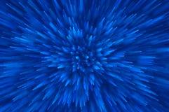 蓝色闪烁爆炸点燃抽象背景 免版税库存照片