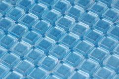蓝色闪烁玻璃马赛克 库存照片