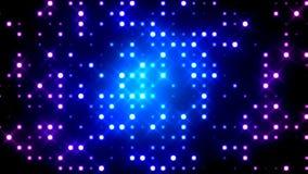 蓝色闪烁的轻的栅格 免版税库存图片