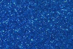 蓝色闪烁纹理背景 库存图片