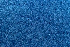 蓝色闪烁纹理背景 免版税库存照片